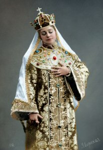 Lydia as Tsaritsa Maria in The Death of Ivan the Terrible, colourised by Klimbim